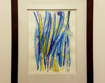 Original abstract watercolor, modern art, wall art, watercolor painting, 11x15