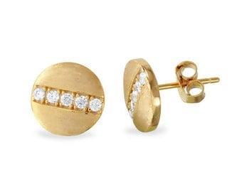Diamond screw earring studs