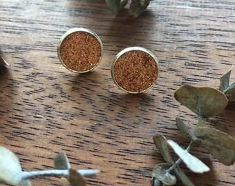 Copper Glitter & Clay Studs