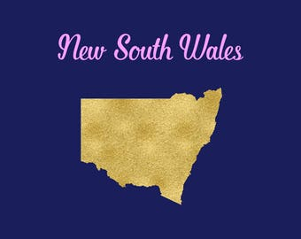 New South Wales SVG, New South Wales State Map Clipart, Australia States, Welcome To New South Wales, Cutting Files, BUY3FOR5