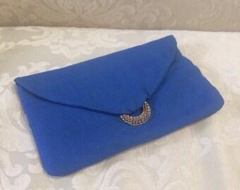 Vintage Clutch, Blue Clutch, Blue Handbag, Vintage Clutches, Vintage Evening Bag, Blue Evening Bag, Blue Purses, Vintage Purses