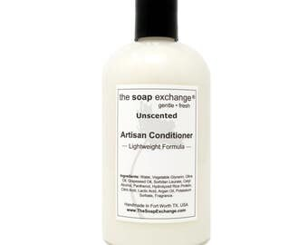 Unscented Natural Conditioner, Fragarnce Free, Hair Care, Artisan Handmade, Sulfate Free, Paraben Free, The Soap Exchange