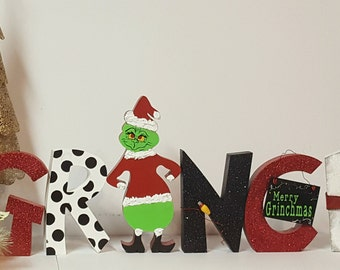 Grinch * Christmas decoration* Holiday Decoration * Wood Crafts * Hand Made * Christmas *