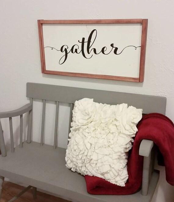 Gather Wood Sign {Customizable}
