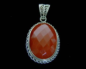 Women's Vintage Estate Sterling Silver Victorian Style Pendant, 12.3g E3010