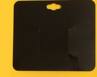 "Black Plastic Bow Card 3""x3.5"" Set of 35"