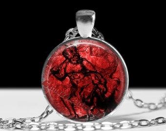 Satanic, Azazel pendant, demon summoning amulet, satan jewelry, 666, satanism, ritual  talisman, dark sorcery #442