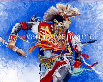 wall decor, original art, watercolour, gouache, traditional, dance, ethnic