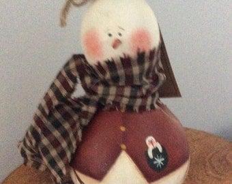 Painted  snowman gourd