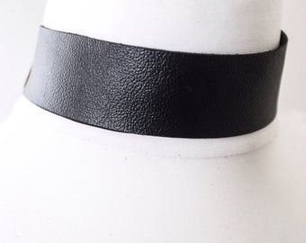 Black Leather Choker | Black Choker Necklace | Black Leather Jewellery | Black Leather Choker | bdsm wear