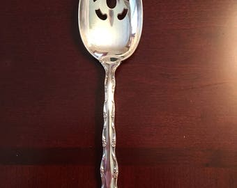 Tara sterling serving spoon slotted