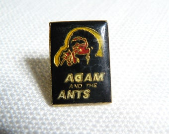 Vintage 80s Adam and the Ants Enamel Pin / Button / Badge