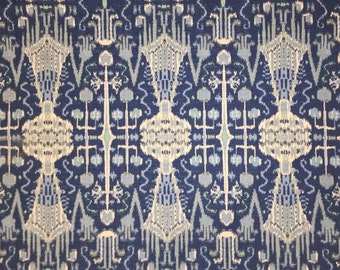 Cobalt Blue Ikat - Lacefield - Upholstery Fabric By The Yard