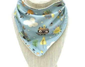 Teepee bandana bib - Baby Animals Bib - Woodland Animals Bib - Forest Animals Bib - Gender Reveal Gift - Teething Bib - Dribble Bib