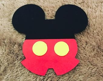 Mickey Mouse cutouts