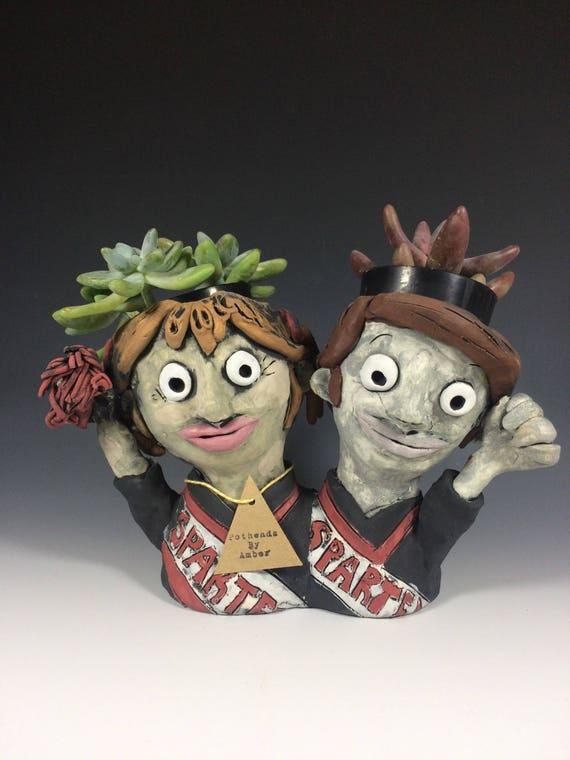 Spartans // Cheerleaders // SNL // Succulent Pots // Funny Succulent Pots // Planters // Plant lovers // Comedy lovers // Cheer lovers //