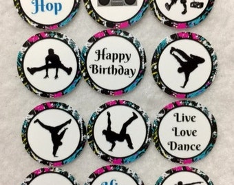 Set of 50/100/150/200 Hip Hop Break Dance Birthday Party  1 Inch Confetti Circles