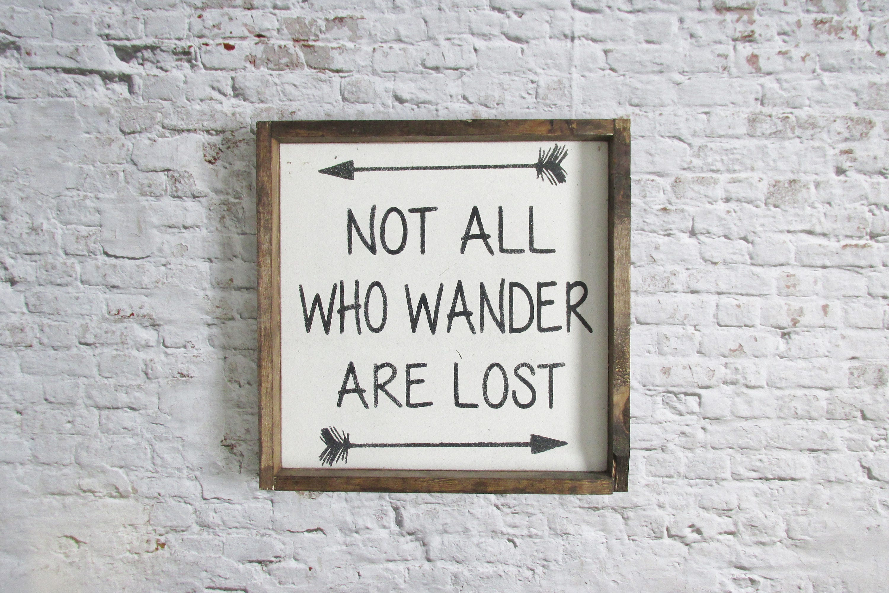 Not All Who Wander Are Lost Wood Sign Rustic Signs Nerd Art
