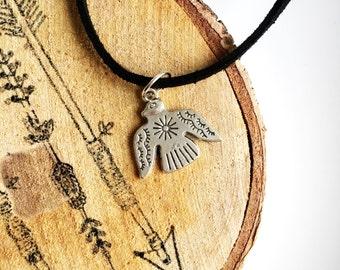 Choker | silver indian bird boho