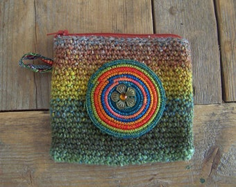 Small handy case / wallet crocheted with high quality yarn.
