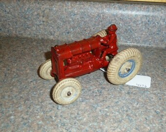 Vintage Hubley Cast IronTractor with Driver