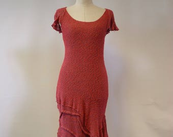 Special hot price. Coral transparent boucle dress, M size.