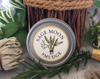 Sage Moon Smudge ~ Loose sacred incense blend ~ Wiccan, Shaman, Celtic, Hedge Witch Magick ~ Natural incense by Wild Flower Shaman