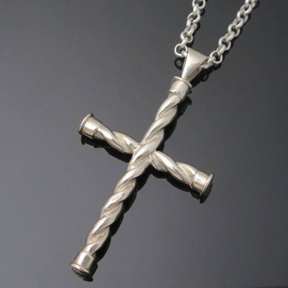 Sterling silver Celtic Twisted Cross -  Made in Ireland - Free worldwide shipping