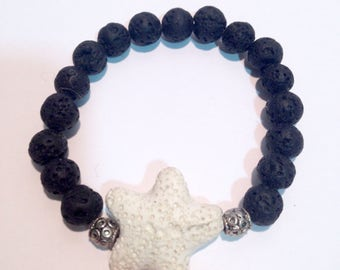 Bracelet star lava