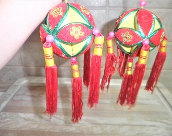 2 Vintage chinese hanging decorations