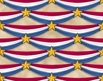 patriotic bunting on cream bgred white u0026 bluequilts of