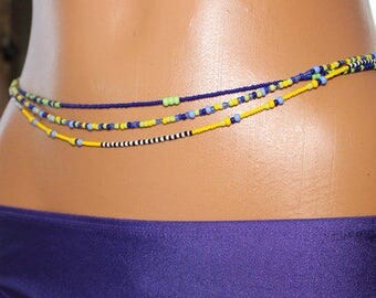 African Crystal Waist Beads (3 heavy strands in a pack)
