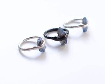 Titanium aura quartz rings // nickelfree// many sizes