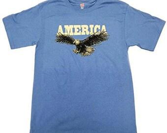 America T-Shirt - American Eagle USA T-shirt - Light Blue - 1802