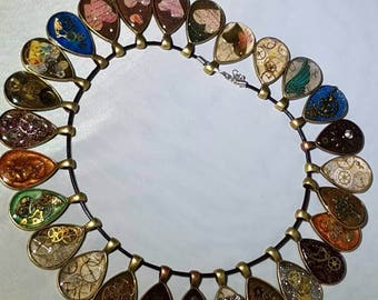 Handmadev steampunk inspired pendants
