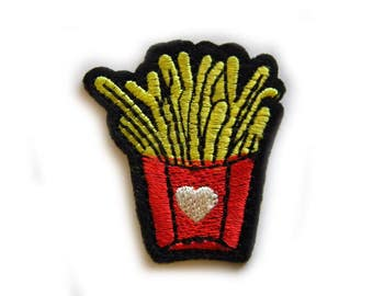 Embroidered  Fries Appliqué