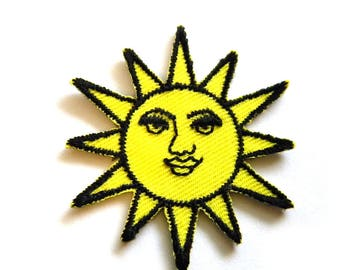 Sun Embroidered Patch Appliqué