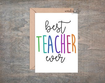 best teacher ever funny greeting card teacher appreciation