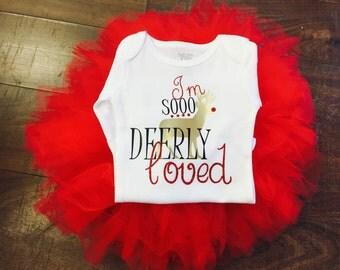 Im Soo Deerly Loved | Girls Christmas