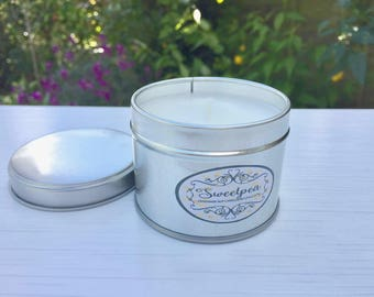 Luxury Scented Soy Candle. Sweetpea Scented Candle. Handmade Candles. Floral Scented Candles. Gift For Her. Birthday Gift for her. New Home.