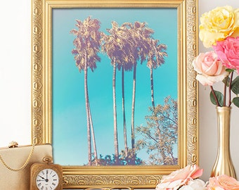 75% OFF SALE - Beach Days Palm Tree - 8x10 Seaside Decor, Nautical Decor, Relaxing Art, Beach Prints, Printable Art, Tropical Art