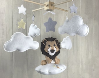 baby mobile - lion mobile / jungle mobile - baby crib mobile - nursery mobile - safari mobile - baby crib mobile