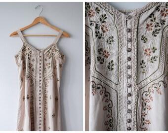 Ethnic embroidered minidress | L/XL