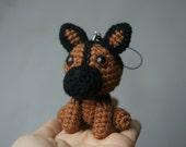 Miniature German Shepherd Limited Edition - Handcrafted Crocheted Amigurumi Birthday Anniversary Gift