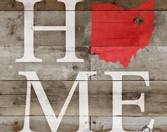 DIY Art Stencil - Love Your Home State : Ohio
