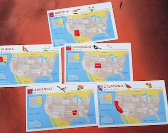 State Game Flash Cards, Alaska, Arkansas, Arizona, Colorado, California, Game Cards by School Zone