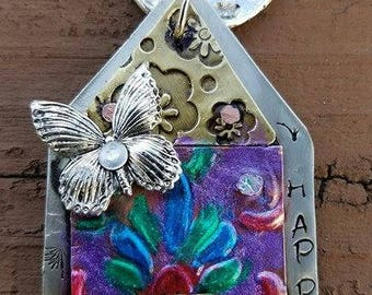 Painted House Necklace