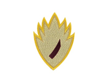 Guardians Of The Galaxy Starlord Insignia Embroidered Iron On Patch Iron on Applique