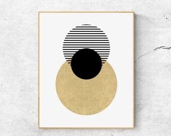 Scandinavian wall art print, Geometric wall art printable, Large abstract art, Scandinavian modern art, Scandinavian art, Geometric print