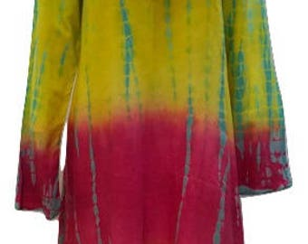 Plus size hippie boho summer asymmetric hem embroidered v-neckline tunic dress
